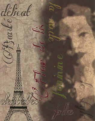 Eiffel Lady Art Print