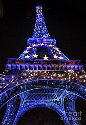 Eiffel Night Art Print by Chuck Kuhn