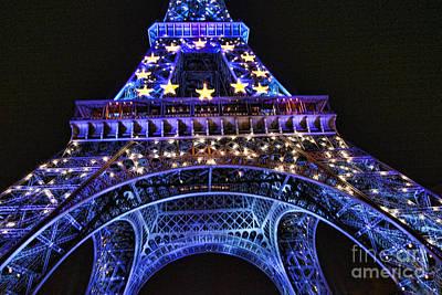 Eiffel Night II Art Print by Chuck Kuhn