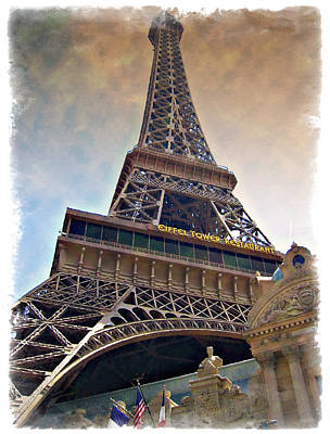 Photograph - Eiffel Tower - Impressions by Ricky Barnard