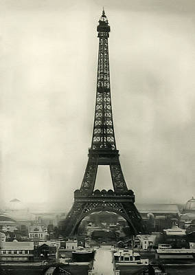 Eiffel Tower 1890 Print by Bill Cannon