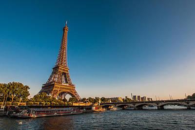 Y120831 Photograph - Eiffel Tower And Bridge by (C) Thanachai Wachiraworakam