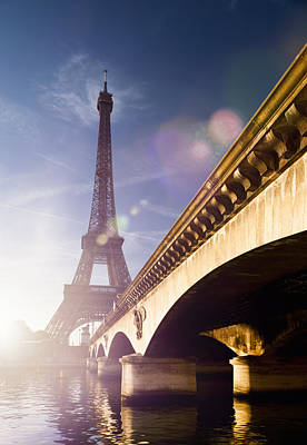 Y120831 Photograph - Eiffel Tower And Pont D´iena by Jorg Greuel