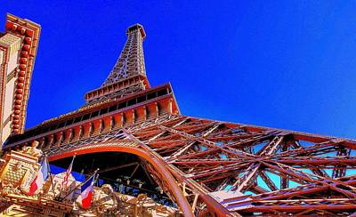 Art Print featuring the photograph Eiffel Tower At Paris Las Vegas by Linda Edgecomb