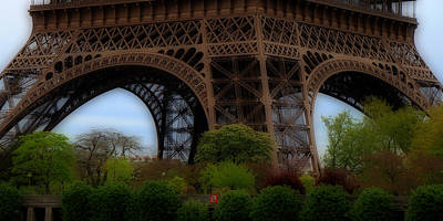 Photograph - Eiffel Tower Base by Andrew Fare