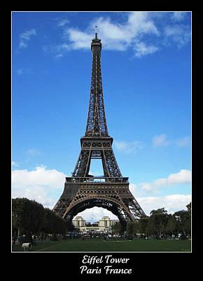 Photograph - Eiffel Tower Blues  Paris France by John Shiron