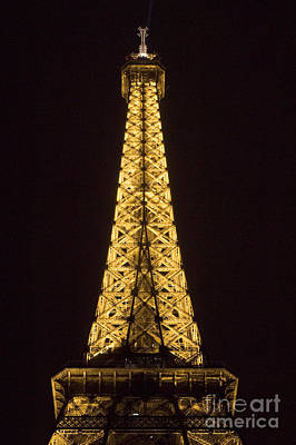 Photograph - Eiffel Tower By Night Detail by Fabrizio Ruggeri