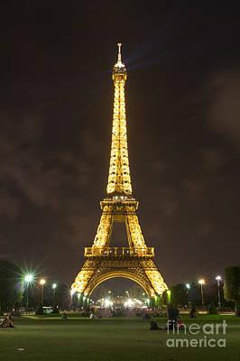 Photograph - Eiffel Tower By Night by Fabrizio Ruggeri