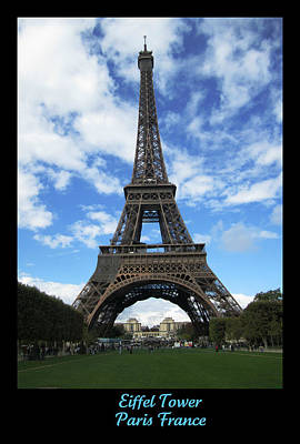 Photograph - Eiffel Tower Clouds II  by John Shiron