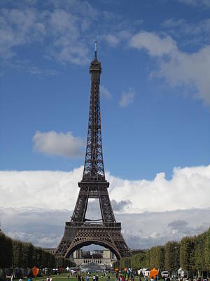 Photograph - Eiffel Tower Crowd IIi Paris France by John Shiron