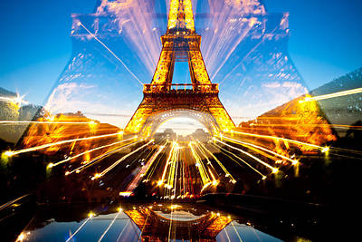 Photograph - Eiffel Tower Explosion by Anthony Doudt