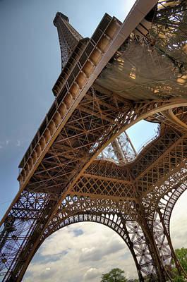 Paris Photograph - Eiffel Tower In Perspective by Bernard Collardey Photographie