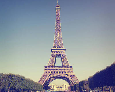 Paris Photograph - Eiffel Tower by Liz Rusby
