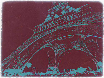Eiffel Tower Art Print by Naxart Studio