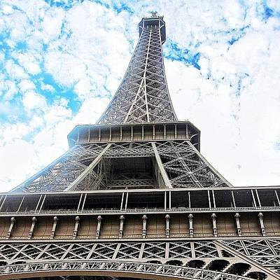 Paris Skyline Photograph - #eiffel #tower #paris #sky #skyporn by Ryan Richbourg