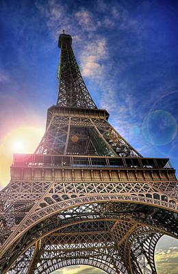 Paris Photograph - Eiffel Tower Sunset by Darkerphoto