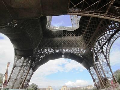 Photograph - Eiffel Tower Tarped Paris France by John Shiron