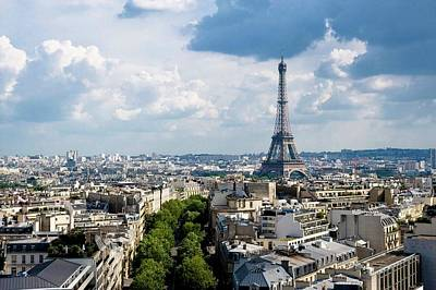 Arc De Triomphe Photograph - Eiffel Tower View From Arc De Triomphe by Keith Sherwood