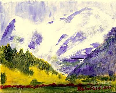 Painting - Eiger And Jungfrau Switzerland by Richard W Linford
