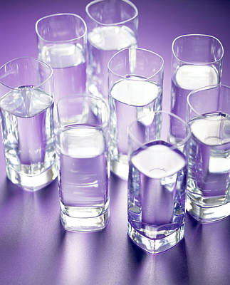 Photograph - Eight Glasses Of Water by Lawrence Lawry