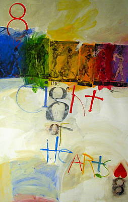 Painting - Eight Of Hearts 34-52 by Cliff Spohn