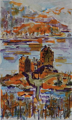 Impressionism Painting - Eilean Donan by Phong Trinh