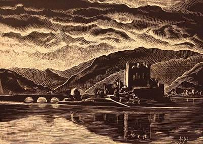 Painting - Eilean Donan by Sheep McTavish