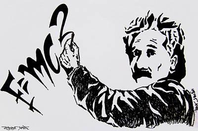 Einstein Drawing - Einstein by Pramod Masurkar