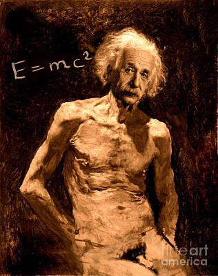 Einstein Relatively Nude Print by Karine Percheron-Daniels