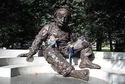 Photograph - Einstein With Children by Keith Stokes