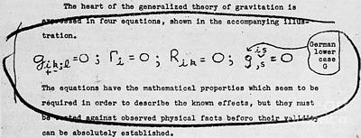 Photograph - Einsteins Theory Of Gravity by Science Source