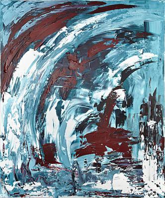 Eiskaltes Rot Art Print by Thomas Kleiner