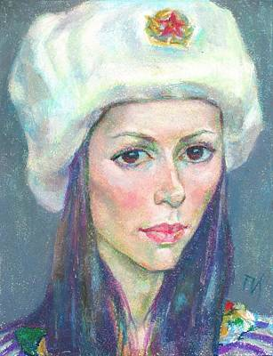 Woman Painting - Ekaterina Kindzerskaya by Leonid Petrushin