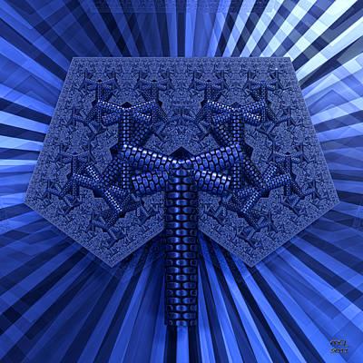 Art Print featuring the digital art El Azul Del Mar by Manny Lorenzo