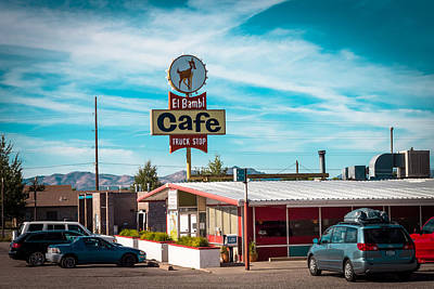 Photograph - El Bambi Cafe by Chris Fullmer
