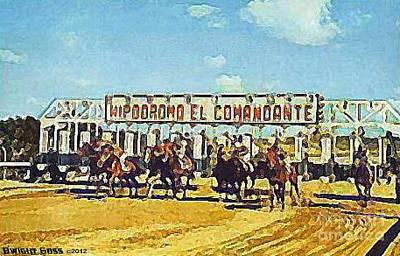 Painting - El Comandante Racetrack In San Juan P R by Dwight Goss