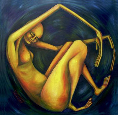 Painting - El Comienzo by Virginia Palomeque