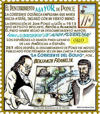 Benjamin Franklin Mixed Media - El Descubrimiento Mayor De Ponce by Warren Clark