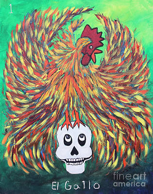 Painting - El Gallo by Sonia Flores Ruiz