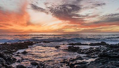 El Golfo, Sunset, Lanzarote, Art Print by Travelstock44 - Juergen Held