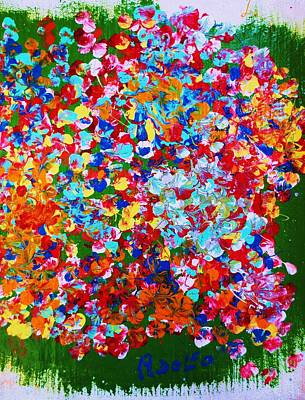 ..el Jardin De Gabo... Art Print by Adolfo hector Penas alvarado