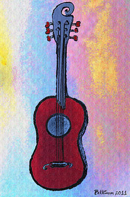 Guitar Drawing - El Kabong by Bill Cannon