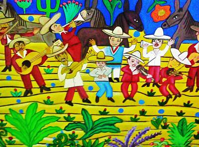 El Mariachi Art Print by Robert Almeida