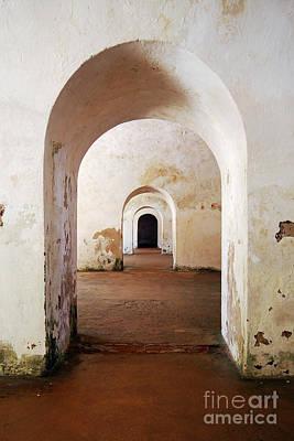 Photograph - El Morro Fort Barracks Arched Doorways Vertical San Juan Puerto Rico Prints by Shawn O'Brien