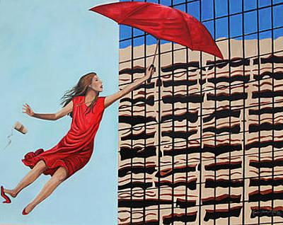 Elpaso Painting - El Paso - Blown Away - Impressionada by Maritza Jauregui Neely