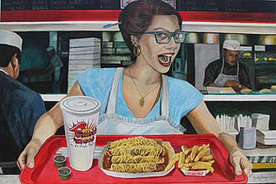 Elpaso Painting - El Paso - Love Chicos - Amo A Chicos by Maritza Jauregui Neely