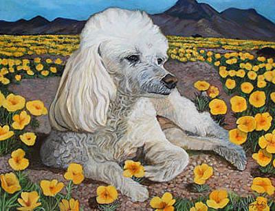 Elpaso Painting - El Paso - Peaches Npoppies by Maritza Jauregui Neely