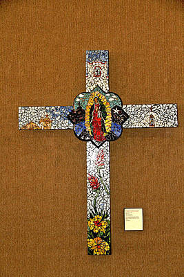 Elpaso Glass Art - El Paso - Tribute To The Virgin Of Guadalupe - Tributo A La Virgen De Guadalupe by Maritza Jauregui Neely