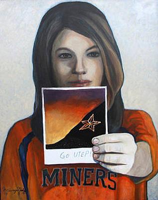 Elpaso Painting - El Paso -team Spirit - Espiritu De Equipo by Maritza Jauregui Neely