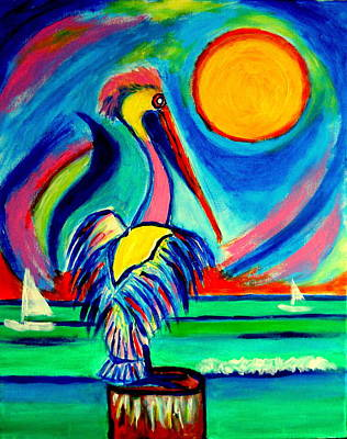 Painting - El Pelicano Playa Sol by Ted Hebbler